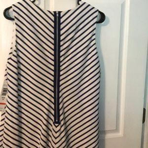 Tiana B. Dresses - Striped sleeveless dress.